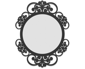 Picture of CALLEA DESIGN VIENNA WALL MIRROR  SHABBY CHIC DESIGN BLACK FINISHING