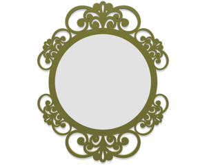 Picture of CALLEA DESIGN VIENNA WALL MIRROR  UNIQUE DESIGN OLIVE GREEN FINISHING