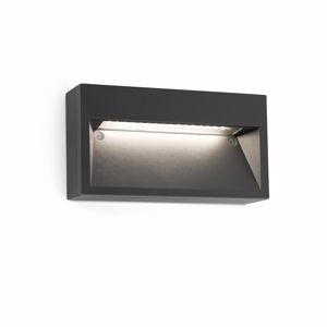 Picture of FARO PATH FOOTPATH LIGHT LED RECTANGULAR-SHAPED DARK GREY COLOUR FOR OUTDOOR
