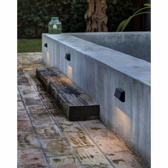 Picture of FARO MUST-3 FOOTPATH LED LIGHT 4W FOR OUTDOOR RECTANGULAR-SHAPED LIGHT DARK GREY FINISHING