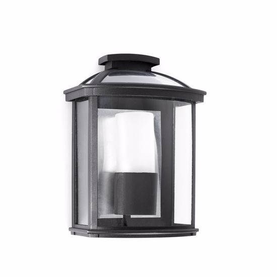 Picture of BLACK WALL LIGHT IP44 FOR OUTDOOR MODERN LANTERN LIGHT