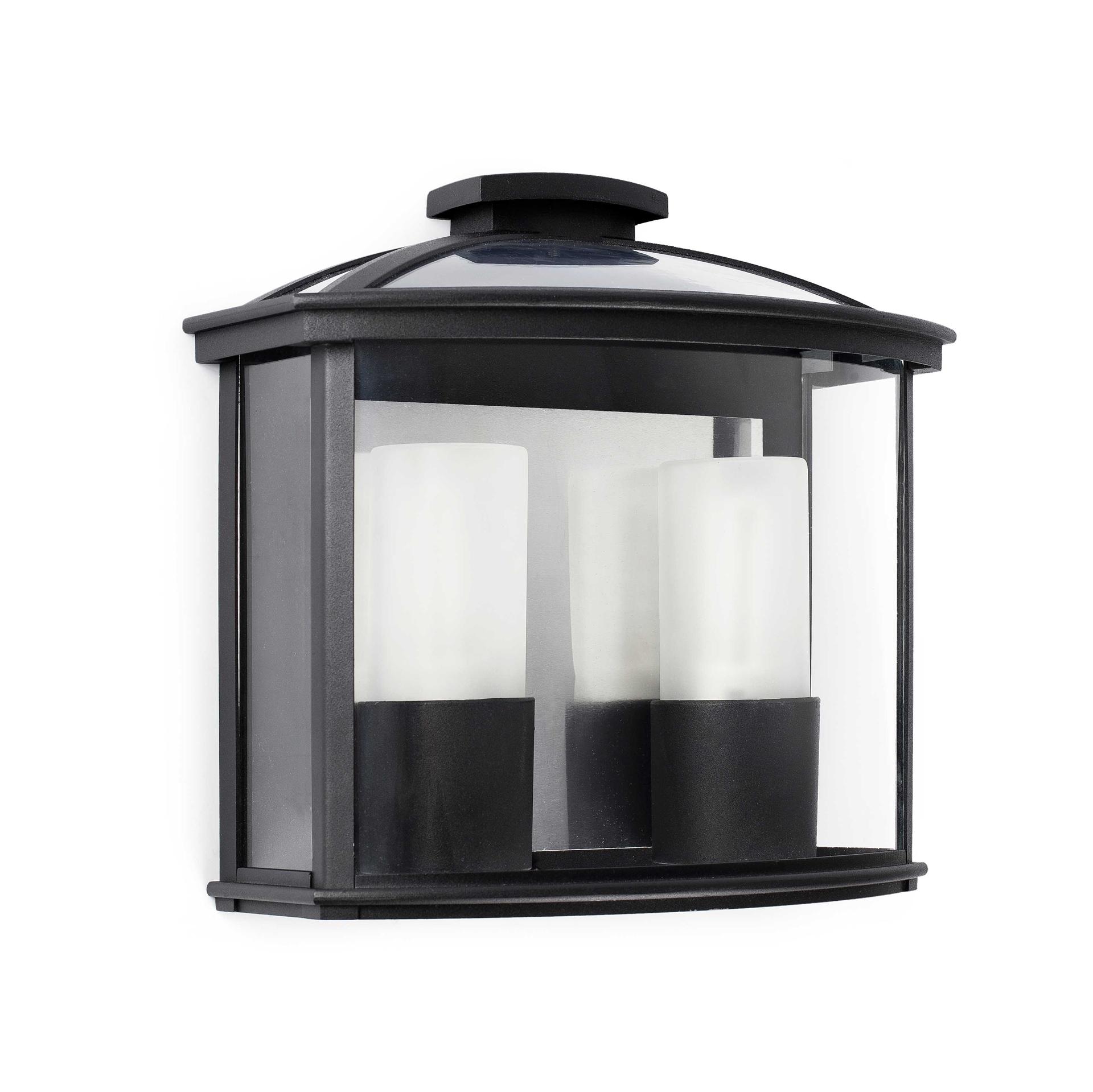 Faro Ceres 2 Black Lantern For Outdoor Modern Wall Light 71608