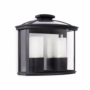 Picture of FARO CERES-2 BLACK LANTERN FOR OUTDOOR MODERN WALL LIGHT