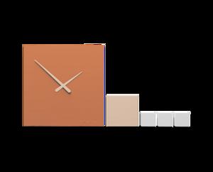 Picture of CALLEA DESIGN KUBO COMPOSABLE WALL CLOCK TERRACOTTA MODERN DESIGN