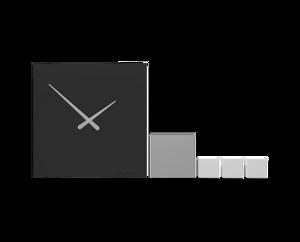 Picture of CALLEA DESIGN KUBO BLACK WALL CLOCK MODERN DESIGN
