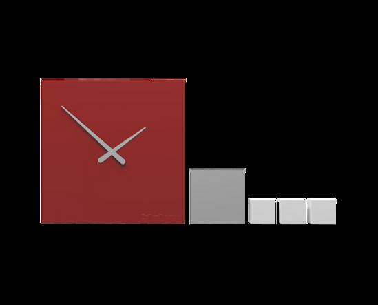 Picture of CALLEA DESIGN KUBO RUBY WALL CLOCK MODERN DESIGN