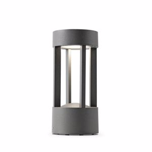 Picture of FARO JAIPUR SMALL LED BEACON LAMP DARK GREY MODERN DESIGN OUTDOOR LIGHTING FOR GARDENS AND TERRACES