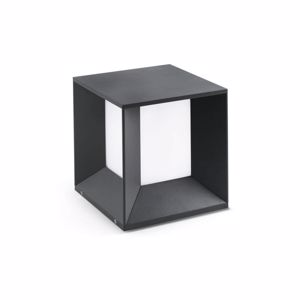 Picture of FARO MILA LED BEACON LAMP IN DARK GREY FINISH FOR OUTDOOR AREAS GARDENS OR WALL MODERN DESIGN