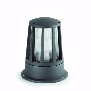 Picture of FARO SURAT SMALL BEACON LAMP OUTDOOR LED LIGHTING MINIMAL DESIGN DARK GREY FINISH