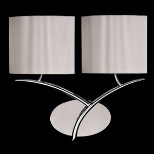 Picture of MANTRA EVE CHROME - OFF WHITE WALL LAMP WITH 2 FABRIC LAMPSHADES