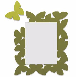 Picture of CALLEA DESIGN BUTTERFLY MIRROR OLIVE GREEN