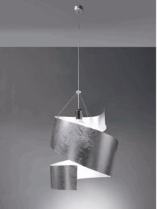 Picture of GARAGOI PENDANT LIGHT BY MARCHETTI LIGHTING SILVER LEAF PAINTED