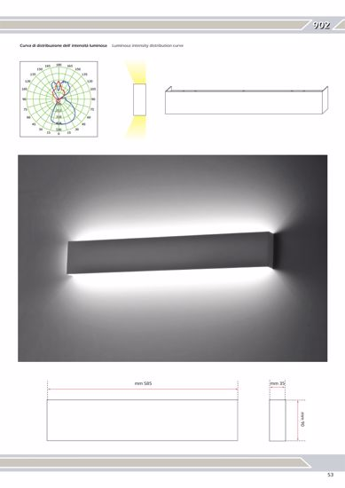 Picture of LED WALL LIGHT 24W ULTRA THIN IN METAL 58CM ISYLUCE