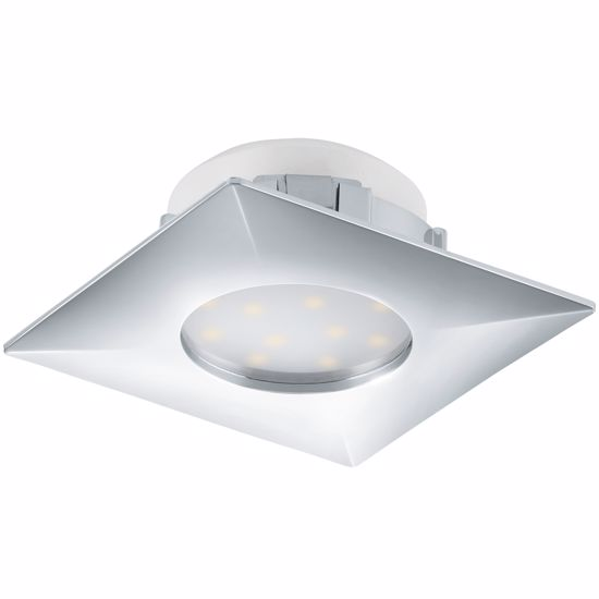 Picture of CHROME SQUARED SPOTLIGHT FOR FALSE CEILING INTEGRATED LED 6W 3000K