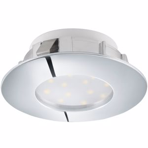 Picture of ROUND RECESSED LED SPOTLIGHT 6W 3000K CHROMED SPOT FOR PLASTER FALSE CEILING