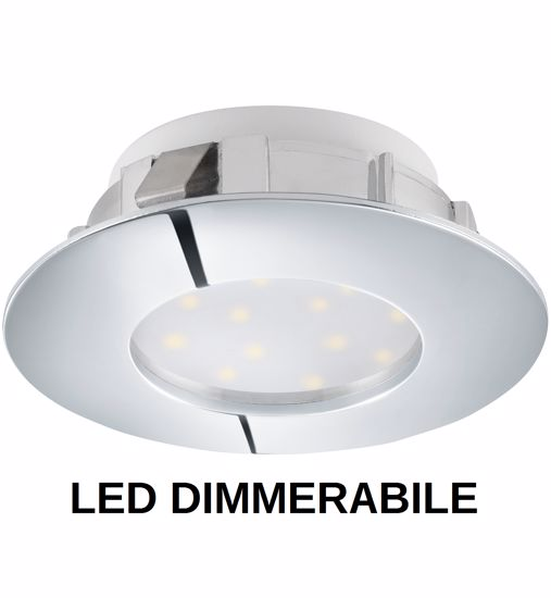 Picture of RECESSED SPOTLIGHT DIMMABLE LED 6W FOR FALSE CEILING GLOSSY CHROMED FINISH