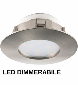 Picture of DIMMABLE LED RECESSED SPOTLIGHT FOR FALSE CEILING 6W 300K NICKEL ROUND SHAPE