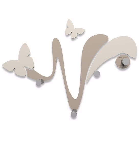 Picture of CALLEA DESIGN MODERN WALL COAT HOOKS BUTTERFLY DOVE GREY
