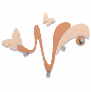 Picture of CALLEA DESIGN MODERN WALL COAT HOOKS BUTTERFLY TAN