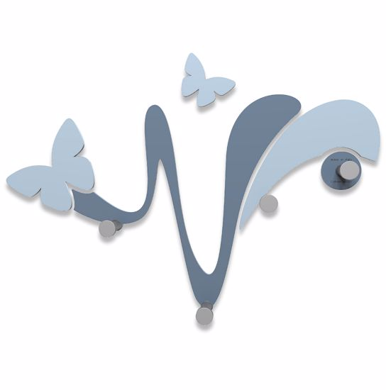 Picture of CALLEA DESIGN MODERN WALL COAT HOOKS BUTTERFLY MID BLUE