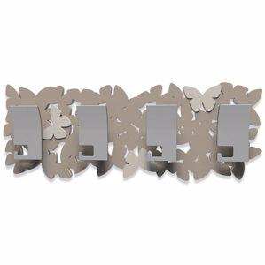 Picture of CALLEA DESIGN MODERN COAT RACK BUTTERFLIES DOVE GREY