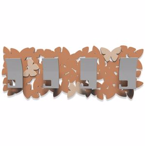 Picture of CALLEA DESIGN MODERN WALL HOOKS 6 BUTTERFLIES TAN