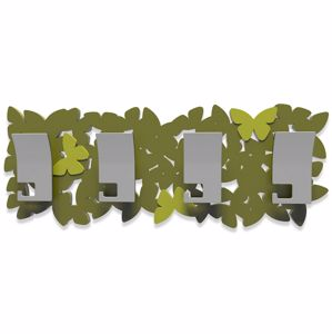 Picture of CALLEA DESIGN MODERN COAT RACK BUTTERFLIES OLIVE GREEN