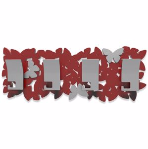 Picture of CALLEA DESIGN MODERN COAT RACK BUTTERFLIES RUBY