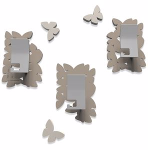 Picture of CALLEA DESIGN MODERN COAT HOOKS WALL MOUNTED BUTTERFLIES DOVE GREY