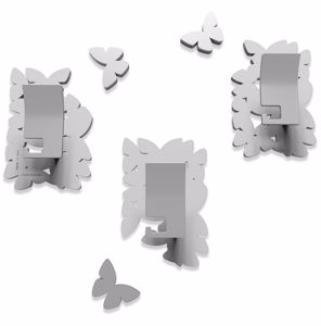 Picture of CALLEA DESIGN MODERN COAT HOOKS BUTTERFLIES ISLAND WHITE