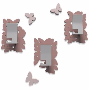 Picture of CALLEA DESIGN MODERN COAT HOOKS WALL MOUNTED BUTTERFLIES PINK
