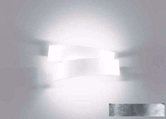 Picture of CONTEMPORARY WALL LIGHT IN SILVER LEAF DECORATION MARCHETTI PURA