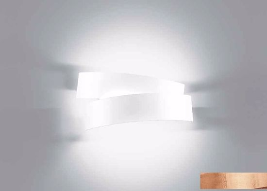 Picture of CONTEMPORARY WALL LIGHT IN COPPER LEAF DECORATION MARCHETTI PURA