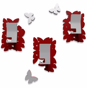 Picture of CALLEA DESIGN MODERN COAT HOOKS WALL MOUNTED BUTTERFLIES RUBY