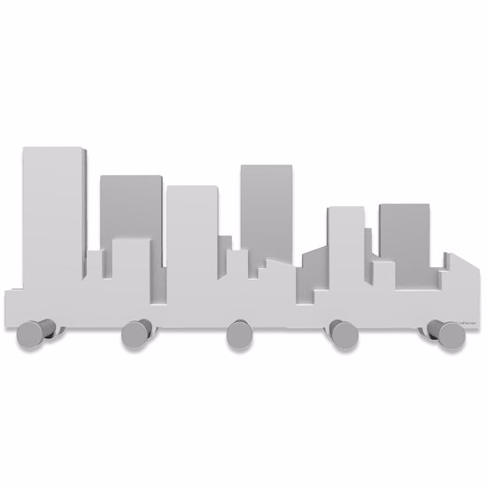 Picture of CALLEA DESIGN SKYLINE COAT RACK GREY WHITE