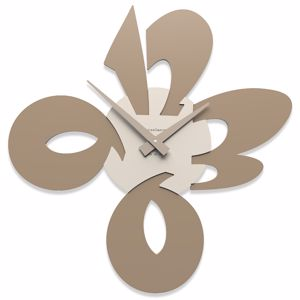 Picture of CALLEA DESIGN MODERN WALL CLOCK CICCIO CAFFELATTE