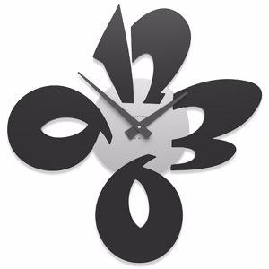 Picture of CALLEA DESIGN MODERN WALL CLOCK CICCIO BLACK