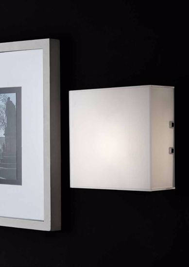 Picture of SQUARED WALL/CEILING LAMP MODERN WHITE GLASS DIFFUSER 20X20