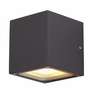 Picture of CUBO LED 18W GX53 DA PARETE ANTRACITE DA ESTERNO IP44 ELEVATA LUMINOSITA