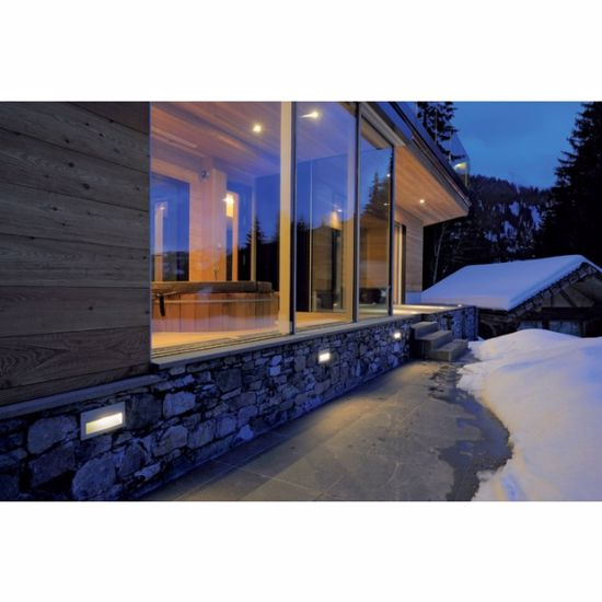 Picture of SMALL LED RECESSED LIGHT FOR OUTDOOR WALL WHITE DESIGN IP55