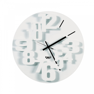 Picture of ARTI E MESTIERI PERSEO WALL CLOCK Ø40 MODERN DESIGN WHITE COLOUR