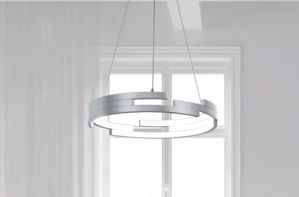 Picture of LAMPADARIO DESIGN MODERNO LED 79W 45CM 3000K IN ALLUMINIO