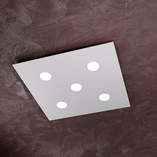 Picture of TOP LIGHT AREA LED CEILING LIGHT 5 LAMPS GREY DESIGN ULTRA SLIM METAL BODY