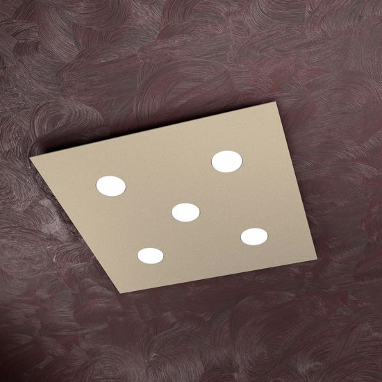 Picture of TOP LIGHT AREA 5 LED CEILING LIGHT SAND COLOURED METAL BODY