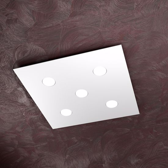 Picture of TOP LIGHT AREA LED CEILING LIGHT 5 LAMPS SQUARE WHITE