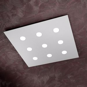 Picture of TOP LIGHT AREA LED CEILING LIGHT 9 LIGHTS WHITE ULTRA SLIM SQUARED DESIGN