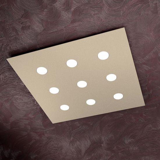 Picture of TOP LIGHT AREA LED CEILING LIGHT 9 LIGHTS SAND SLIM METAL DESIGN