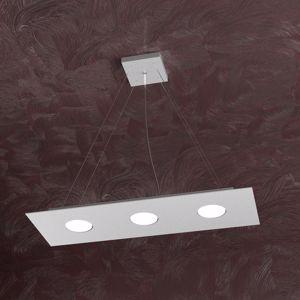 Picture of LAMPADARIO PER CUCINA RETTANGOLARE MODERNA LED 3 LUCI TOP LIGHT GRIGIO