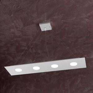 Picture of LAMPADARIO LED PER CUCINA MODERNA GRIGIO 4 LUCI RETTANGOLARE TOPLIGHT AREA