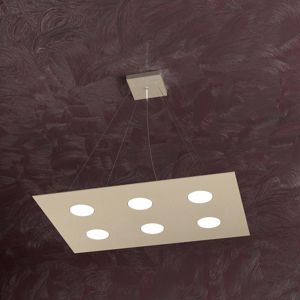 Picture of TOPLIGHT AREA SAND METAL PENDANT LED 6 LIGHTS